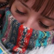 female sick with a cold