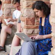 Students studying at CU Boulder