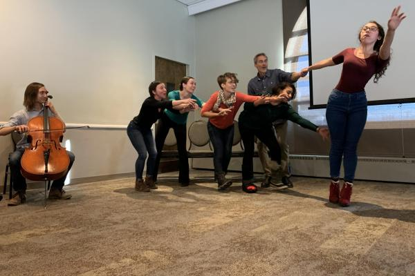 Playback Theater performs at the Creative District Leader Convening.