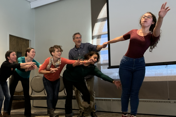 CU Boulder Playback Theatre performs at a Creative District Leadership Convening