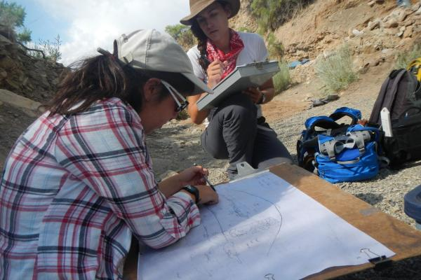 Archaeology students on site in New Mexico