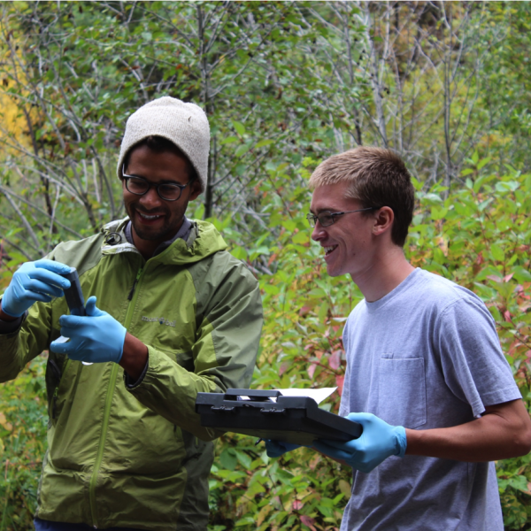 scientists collecting data in the field
