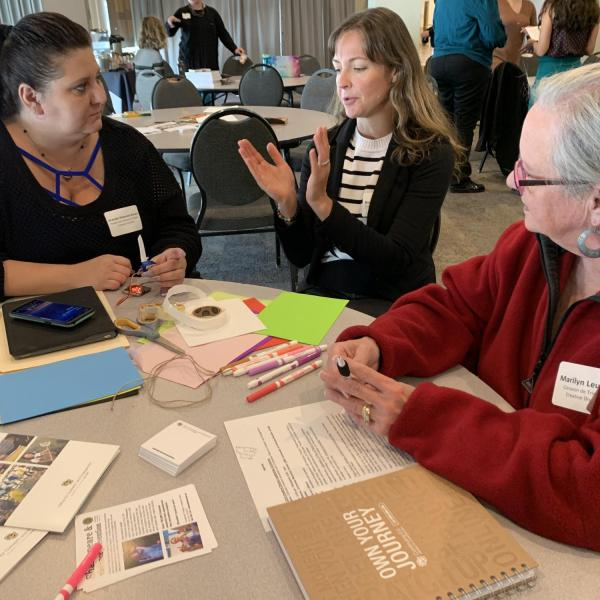 Creative District Convening leaders work on an art project