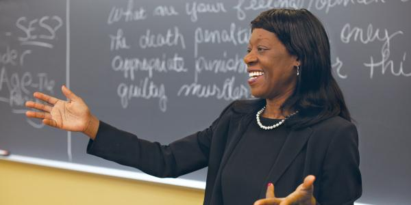CU Boulder Law Professor Dayna Matthew lectures at CUW on the weekend
