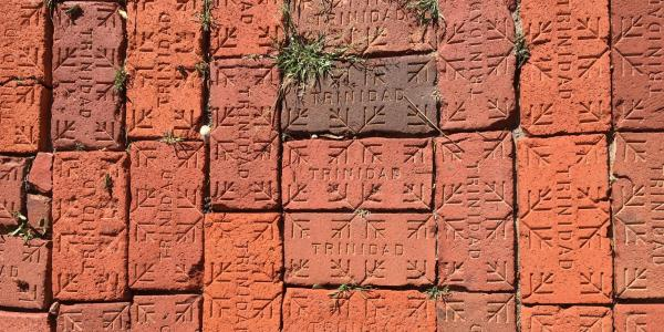 bricks stamped with the name of the town they were created in, Trinidad, CO.