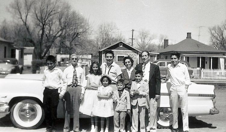 Historical photo of Latino family in Longmont