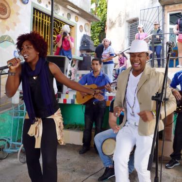 Cuban musicians performing