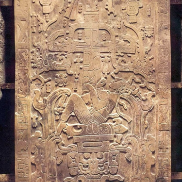 Pakal's sarcophagus lid from the Maya site of Palenque