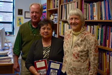 Kent Willmann, Marjorie McIntosh and Esther Blazon from the Boulder County Latino History Project