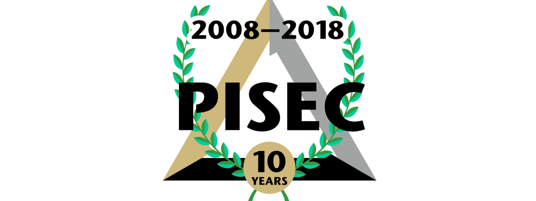 PISEC's tenth anniversary logo