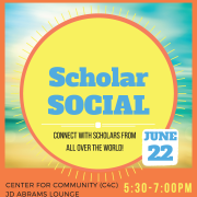 International Scholar Summer Social Flyer