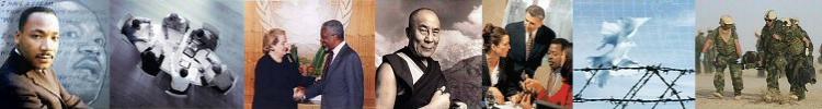 collage of peacebuilding