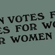 votes for women sign