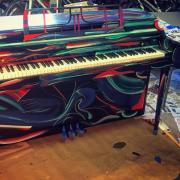 Piano painted by Jack Gaffney