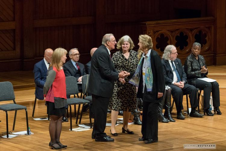 Alison Jaggar being inducted into the American Academy of Arts and Sciences
