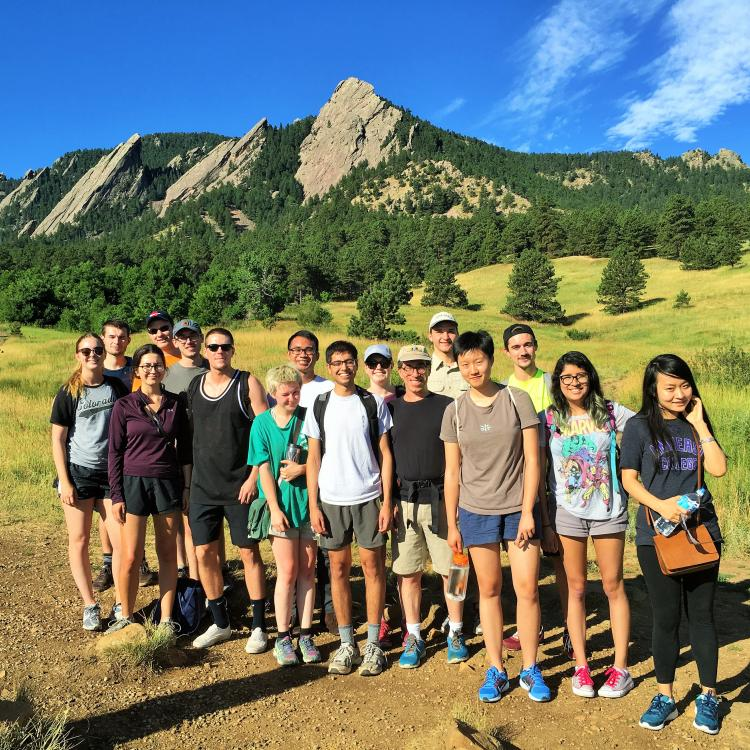 Hiking in the foothills near the CU campus with the 2016 summer seminar participants