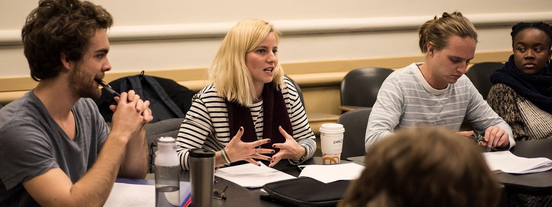 Graduate students in seminar