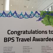 Travel grant awardee sign