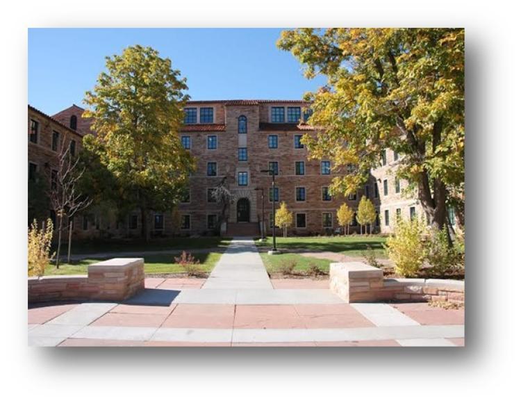 Courtyard on campus