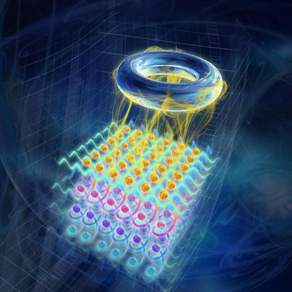Depiction of synthetic quantum matter giving rise to topological phenomena