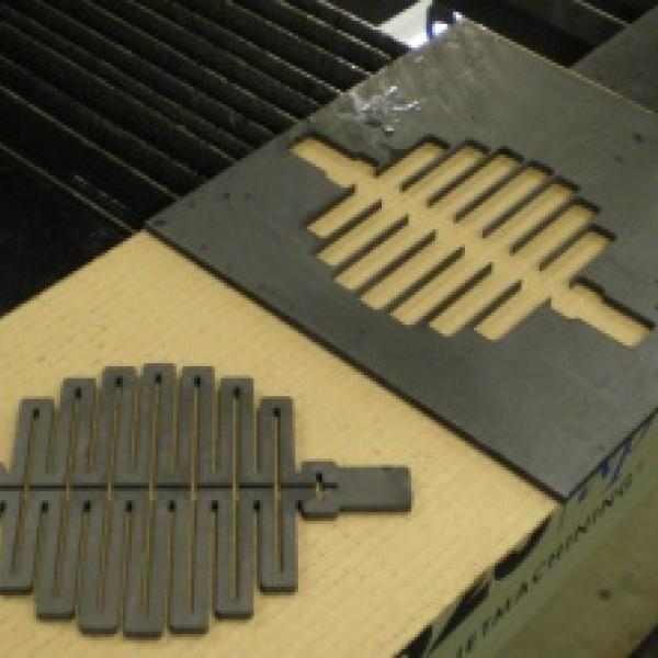 UHT graphite electrode cut on the Omax Waterjet