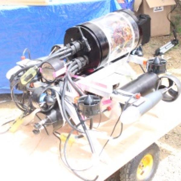 Completed and instrumented Robot sub