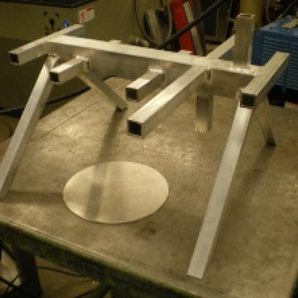 Welded aluminum frame for Robot Submarine