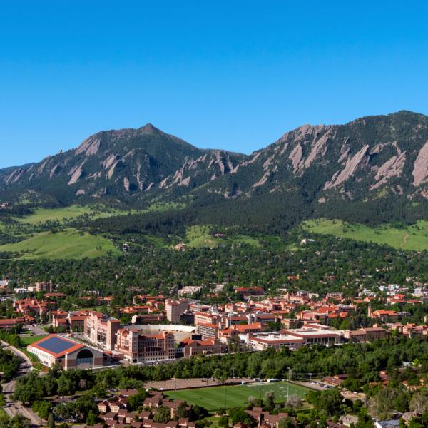 Aerial photo - Boulder and the Flatirons