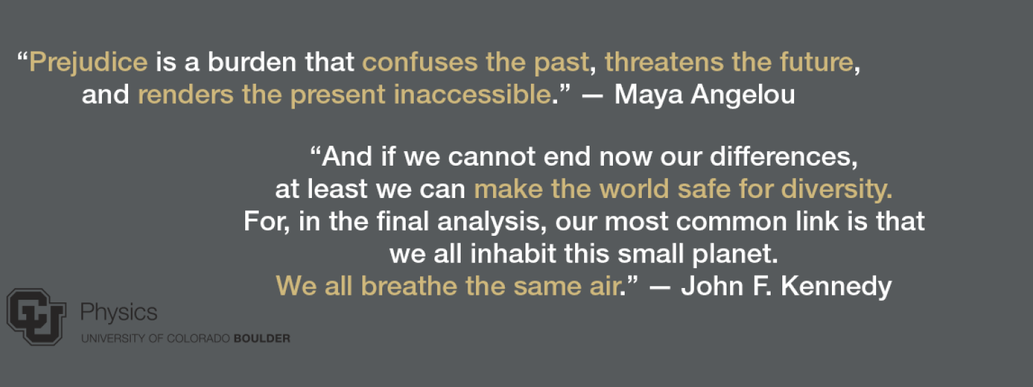 Statement with quotes from Maya Angelou and JFK