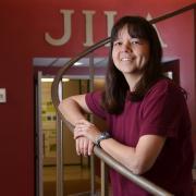 Deborah Jin Portrait on JILA stairs