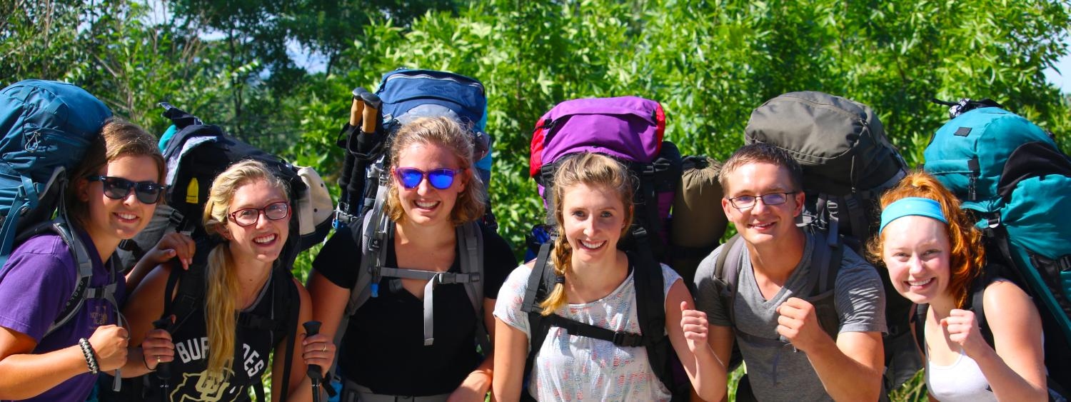 PLC students ready to head into the backcountry for the 2016 Applied Leadership Wilderness Course