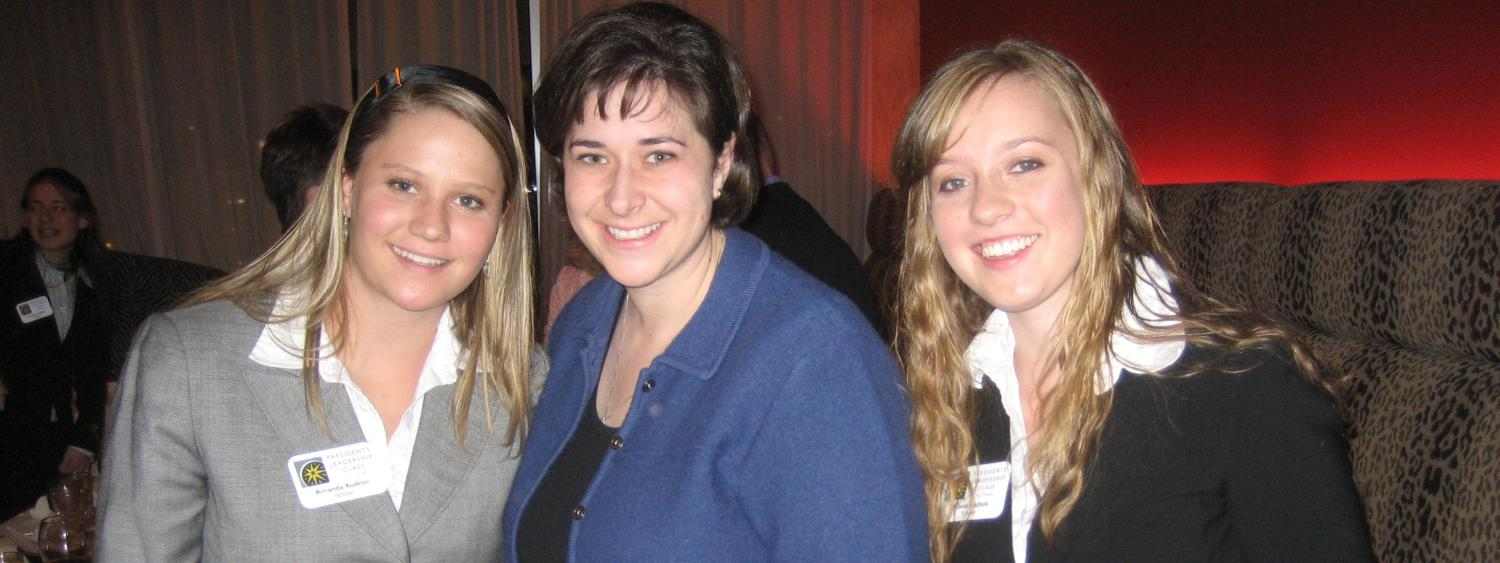 PLC students connect with alumna, Katie Kramer, at the Douglas Scholars scholarship dinner