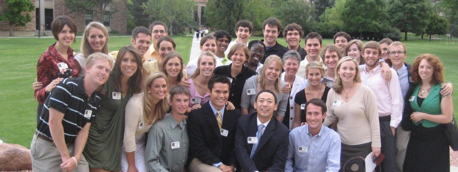 The student staff of 2008-2009 take a group photo