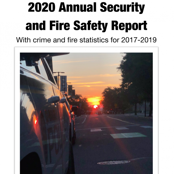 The cover of the 2020 Annual Security Report