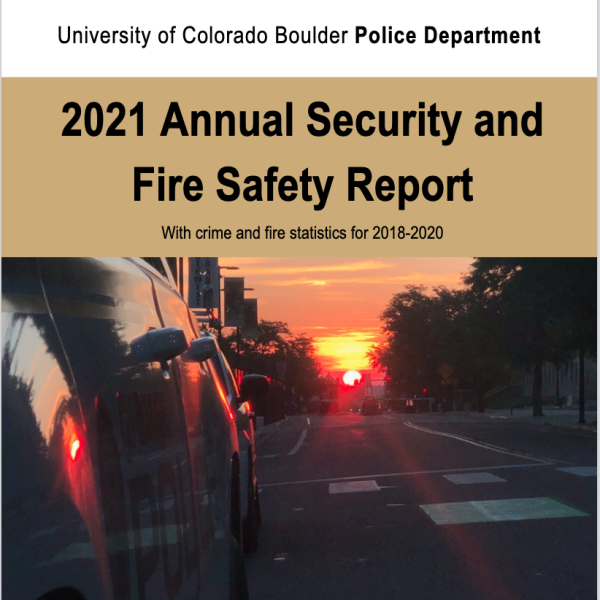 The Cover of the 2021 Annual Security and Fire Safety Report
