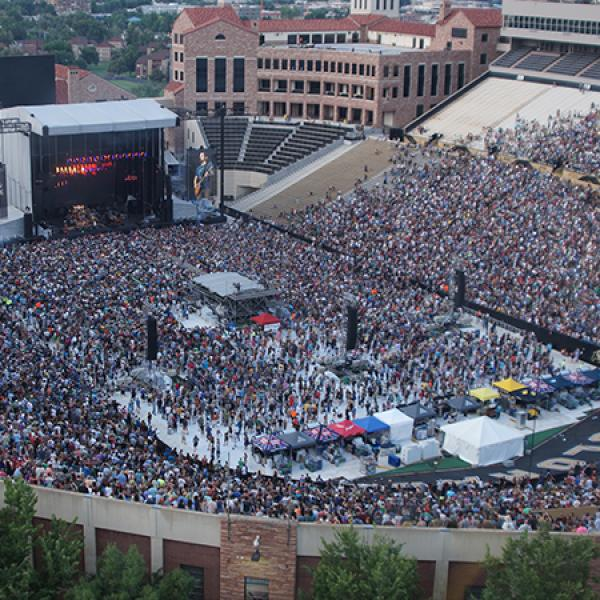 A photo of Folsom Field during the Dead & Company concert in 2017.