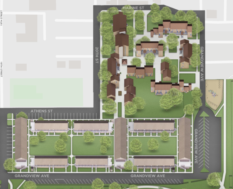 A screenshot of the CU Boulder campus map showing the Marine Court Apartments and parking lots