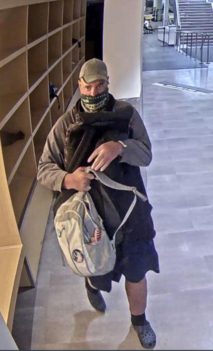 Image taken from surveillance video of the suspect