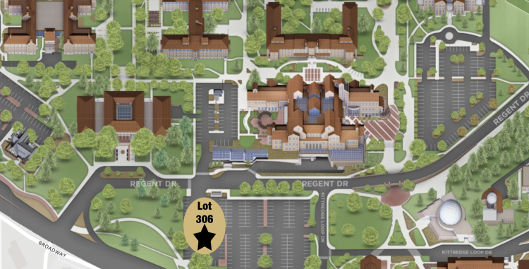 Campus map showing the location of the alleged incident.