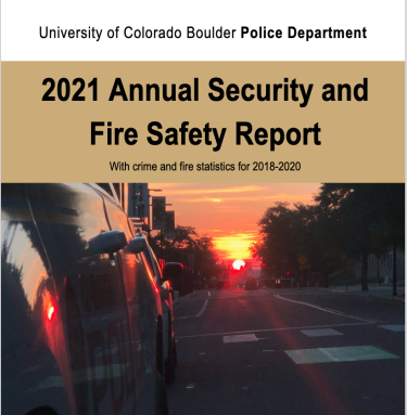 The cover page of the 2020 Annual Security and Fire Safety Report