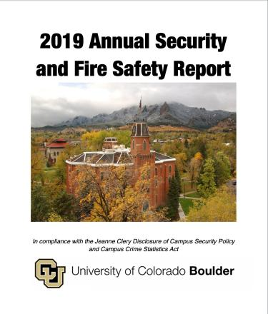 The cover page of the 2019 Annual Security and Fire Safety Report