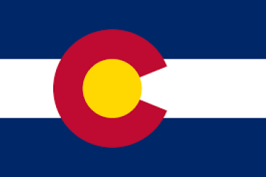 The flag of the state of Colorado