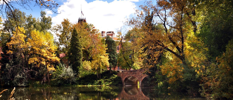 Scenic image of campus during autumn