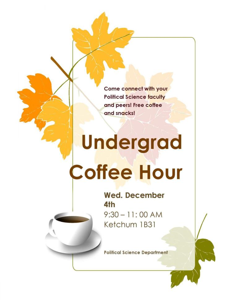 Undergrad Coffee Hour Flyer
