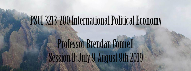 PSCI 3123: International Political Economy