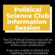 Political Science Club Info Session announcement