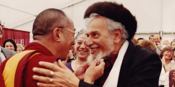 Zalman M. Schachter-Shalomi meeting the Dalai Lama