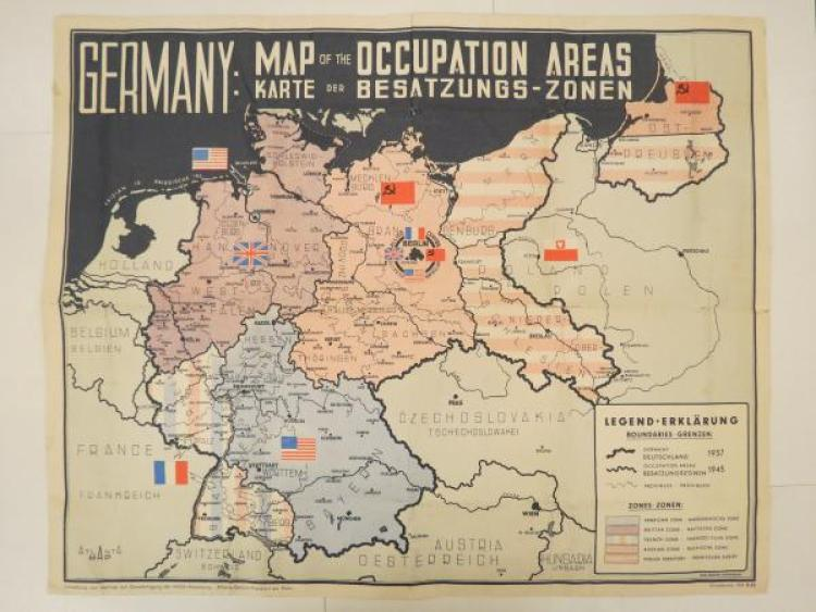 map of occupation areas