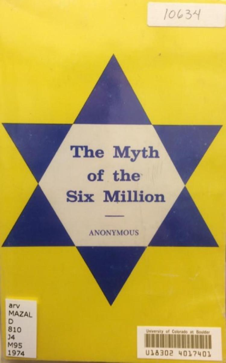 Image result for The Myth of the Six Million