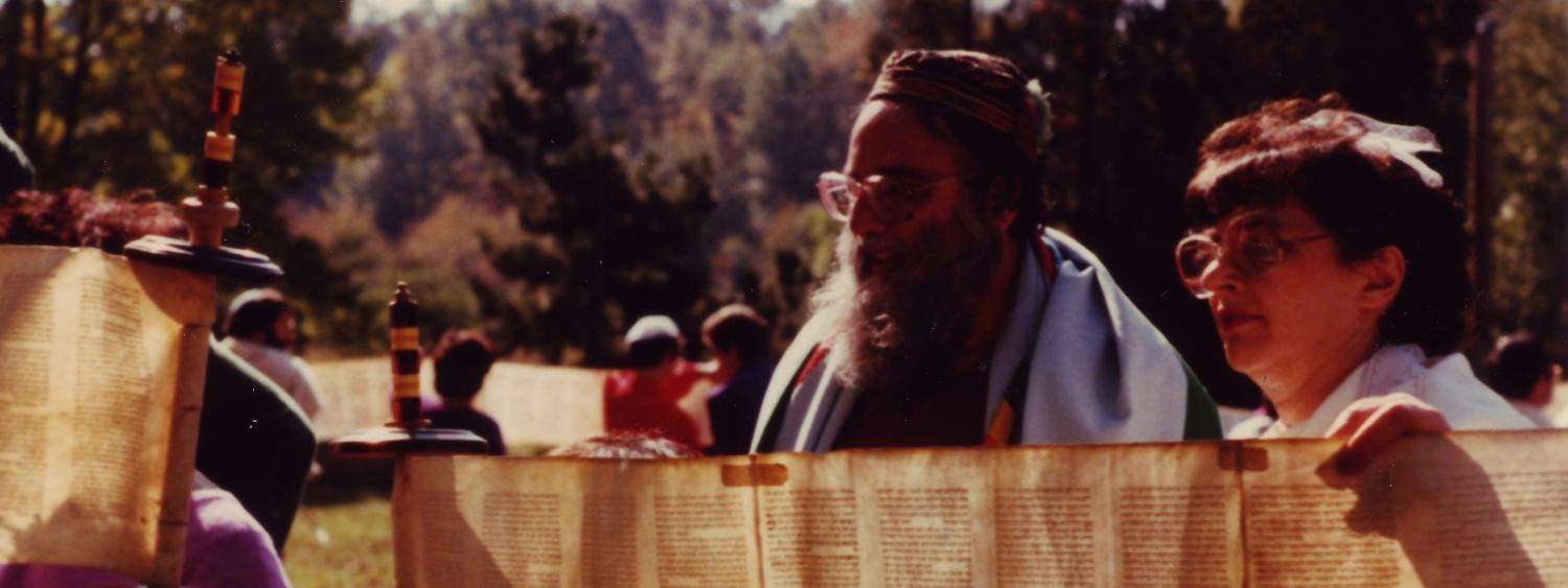 Arthur Waskow with a Torah Scroll